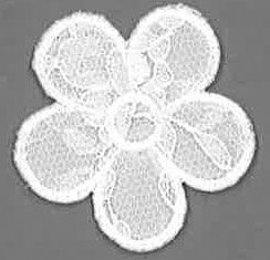 Thermocollant fleur dentelle blanche