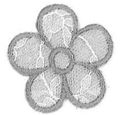 Thermocollant fleur dentelle GRISE
