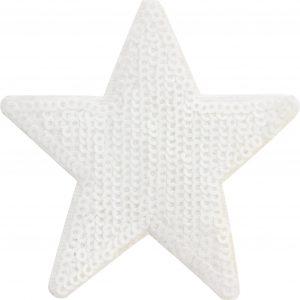 Thermocollant Etoile 8x8cm blanc