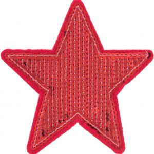 Thermocollant Etoile 8x8cm rouge