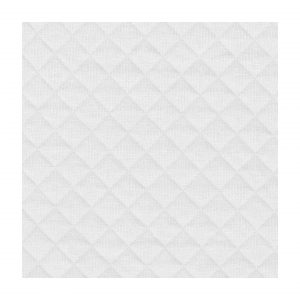 Tissu jersey matelassé blanc au mètre