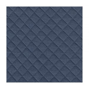 Tissu jersey matelassé bleu au mètre
