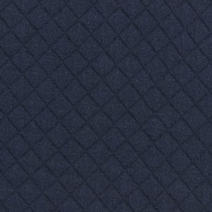 Tissu jersey matelassé marine au mètre