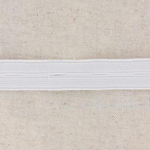 Elastique boutonnière 20mm blanc