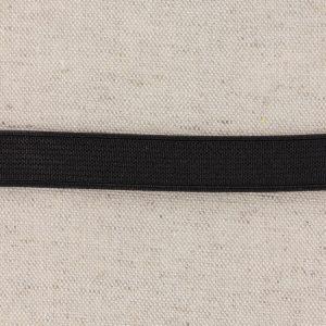 Elastique cotelé 15mm noir
