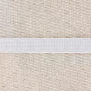Elastique cotelé 15mm blanc