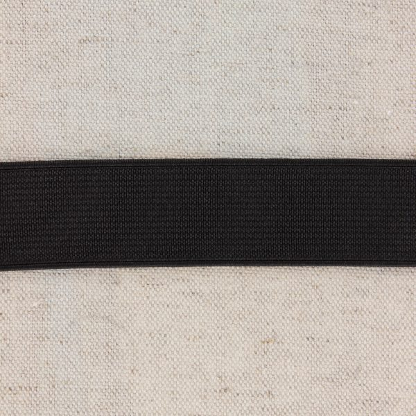 Elastique cotelé 25mm noir