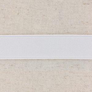 Elastique cotelé 25mm blanc