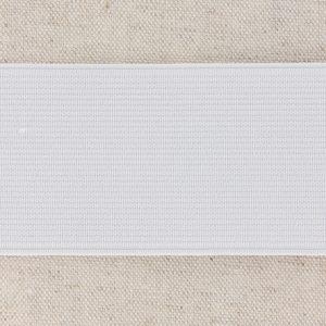 Elastique cotelé 50mm blanc