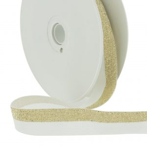 Elastique lurex bicolore blanc doré 20mm