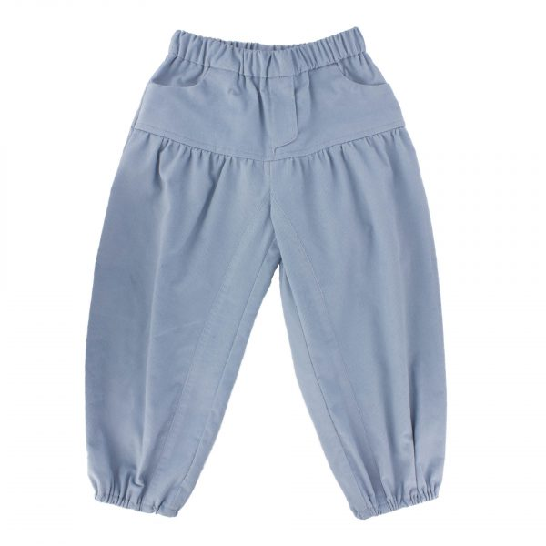 Tissu Velours Milleraies bleu 100% coton L110cm
