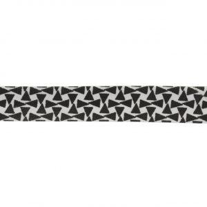 Biais Black & white triangle 18mm
