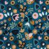 Tissu dashwood velours Corduroy oiseaux et fleurs 150cm 100% coton