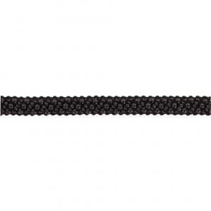 Galon fantaisie avec perles noire