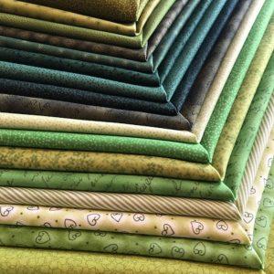 Coupon50 x 110 cm bleu/vert