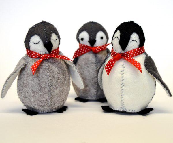 Kit feutrine Les bébés pingouins