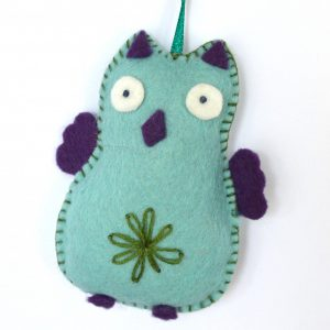Mini Kit feutrine La chouette turquoise