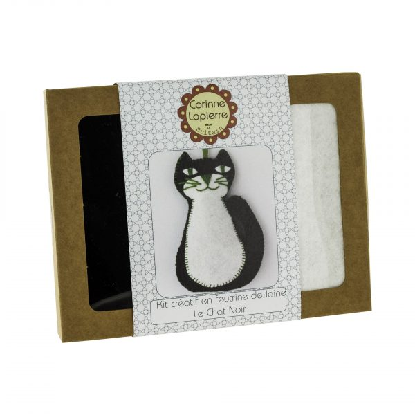 Mini Kit feutrine Chat noir
