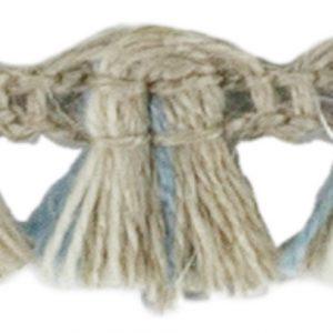 Franges Lin Acrylique Lin Ivoire Bleu 10 mm