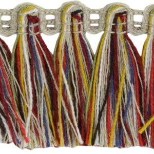 Franges Lin Multicolor Doré 35 mm