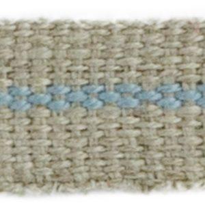 Ruban Lin rayé Bleu 10 mm