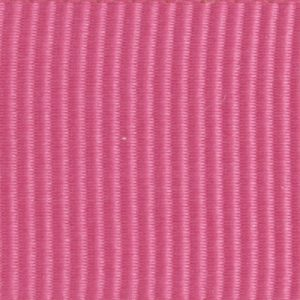 Ruban gros grain polyester rose