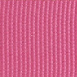 Ruban gros grain polyester rose