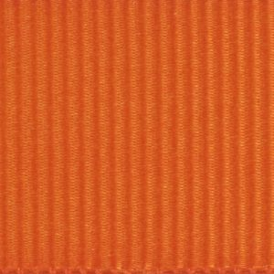 Ruban gros grain polyester orange 01