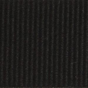 Ruban gros grain polyester noir 01