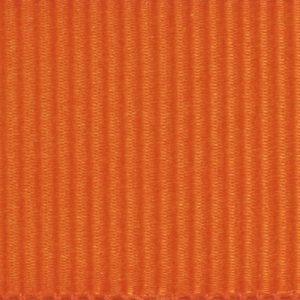 Ruban gros grain polyester orange 02