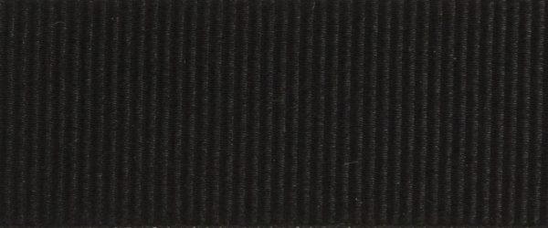 Ruban gros grain polyester noir 03