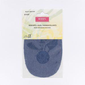 Renfort Jeans thermocollant x2 bleu medium