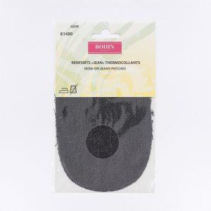 Renfort Jeans thermocollant x2 noir