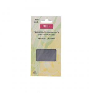 Pièce pergale thermocollant 12x45cm gris
