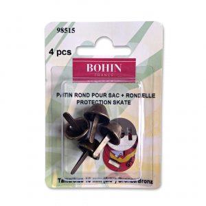 Patin rond pour sac+rondelle 15mm bronze x4