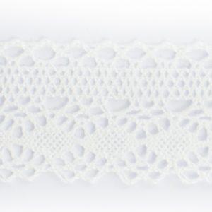 Dentelle 100% Coton blanc écru au mètre