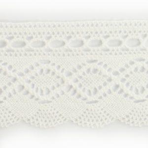 Dentelle 100% Coton blanc au mètre