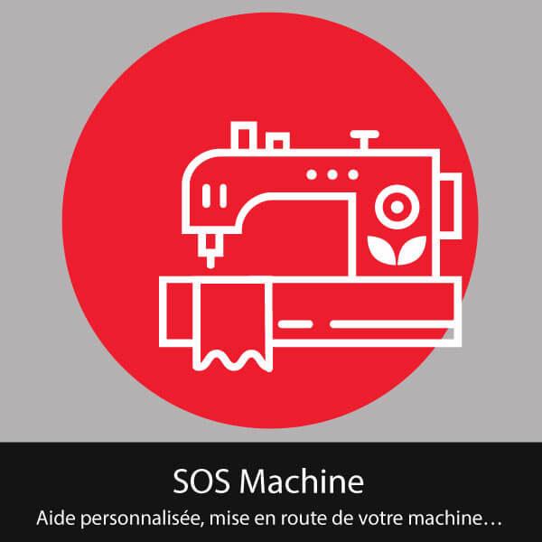 sos machine: Aide personnalisée, mise en route de votre machine…