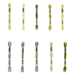 mouliné spécial vert pale