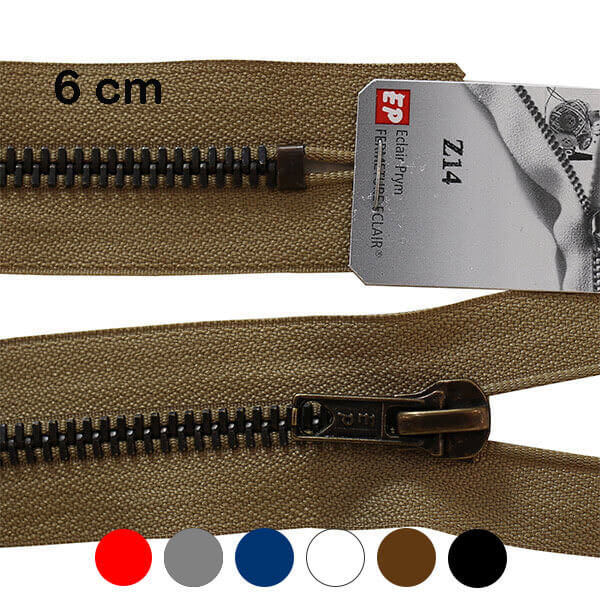 Fermeture Laiton non séparable Z14 6 cm