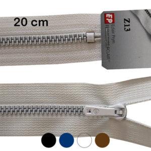 Fermeture maille métallique non séparable Z 13 20 cm