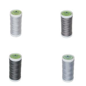 Le Fil à coudre tissus légers 100% coton DMC gris