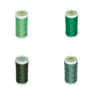Le Fil à coudre tissus légers 100% coton DMC vert