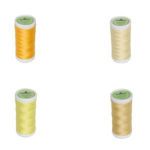 Le Fil à coudre tissus légers 100% coton DMC jaune