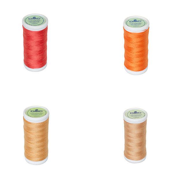 fil à coudre tissu léger DMC Orange