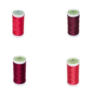 Le Fil à coudre tissus légers 100% coton DMC rouge