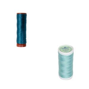 Le Fil à coudre tissus légers 100% coton DMC turquoise