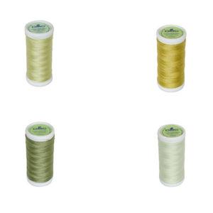 Le Fil à coudre tissus légers 100% coton DMC vert pale