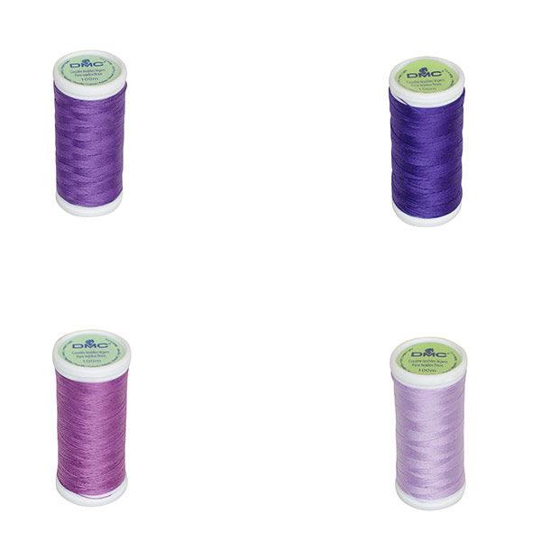 Le Fil à coudre tissus légers 100% coton DMC violet