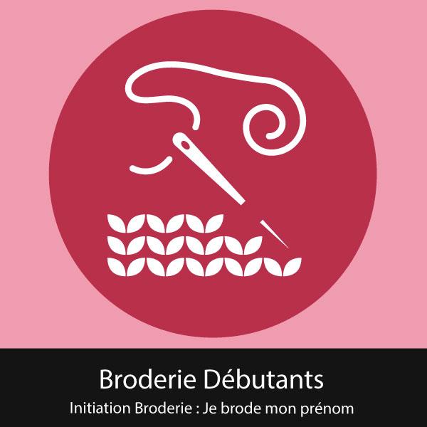 Initiation Broderie : Je brode mon prénom